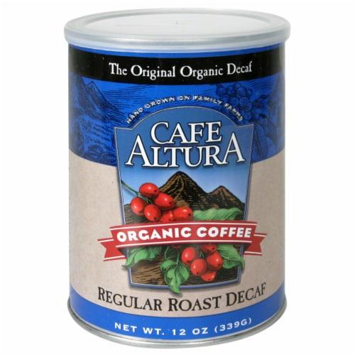 Cafe Altura Organic Regular Roast Decaf Coffee Perspective: front