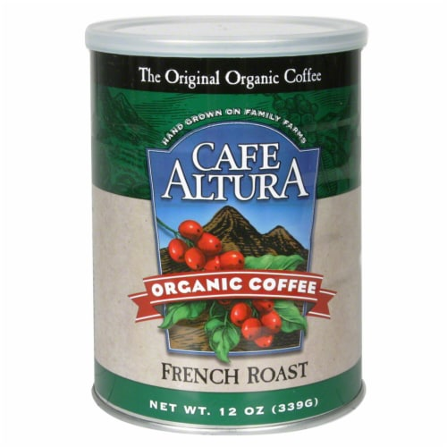 Cafe Altura Organic French Roast Coffee Perspective: front