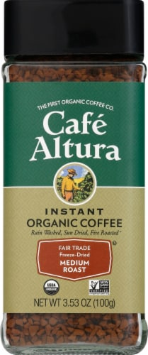 Cafe Altura  Organic Coffee Fair Trade Freeze Dried Perspective: front
