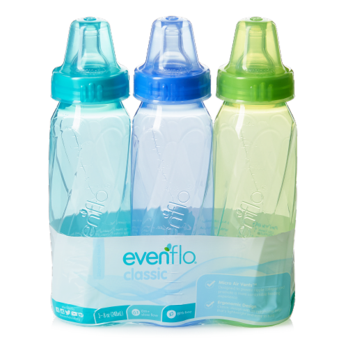 Evenflo Classic Tinted Nursing Bottles -Assorted Perspective: front