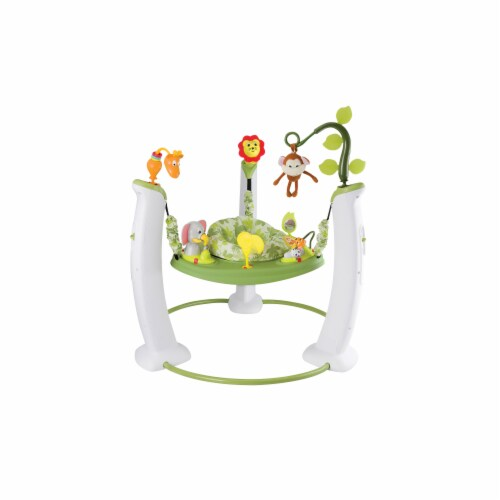 Evenflo Safari Friends Jump & Learn Stationary Jumper Perspective: front