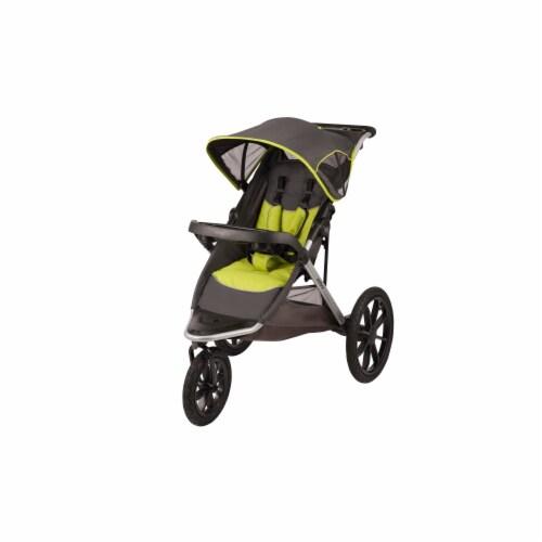 Evenflo Victory Jogging Stroller - Black/Lime Green Perspective: front