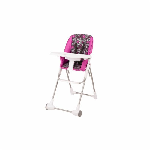 Evenflo Slim Fold High Chair - Pink/White Perspective: front