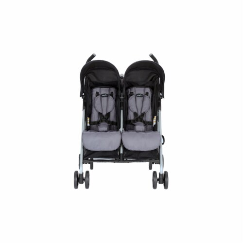 Evenflo MinnoTwin Double Stroller - Glenbarr Grey Perspective: front