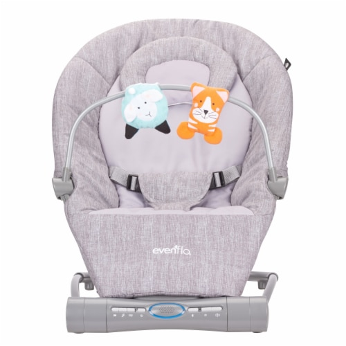Evenflo Lyric Musical Bouncer - Gray Melange Perspective: front