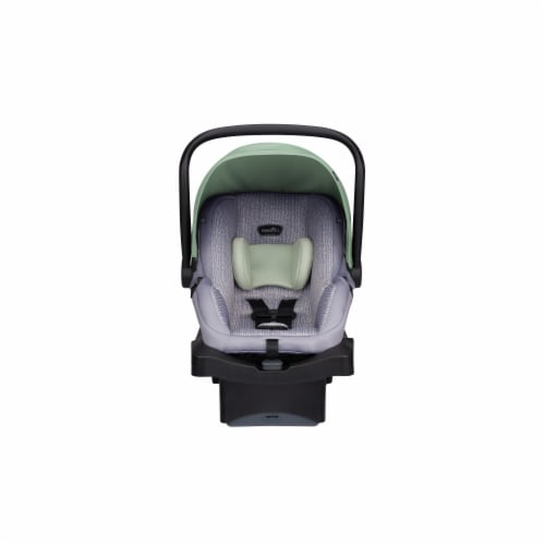 Evenflo LiteMax 35 Infant Car Seat - Bamboo Leaf Green Perspective: front