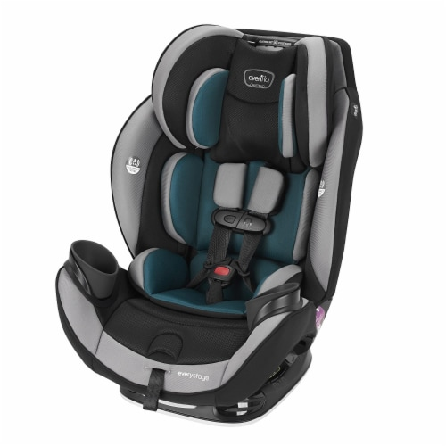 Evenflo EveryStage DLX Rear-Facing Convertible Car and Booster Seat, Reef Blue Perspective: front