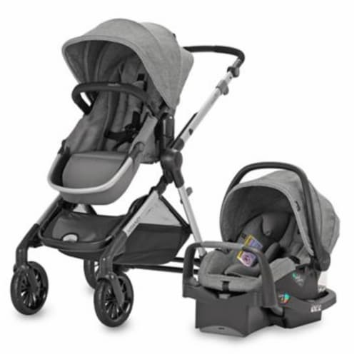 Evenflo Pivot Xpand Modular Travel System Stroller with SafeMax Infant Car Seat Perspective: front