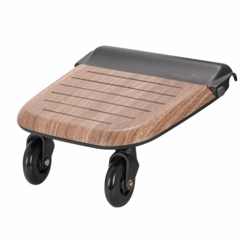 Evenflo Stroller Stand and Ride Rider Board Accessory Attachment Only, Wood Perspective: front