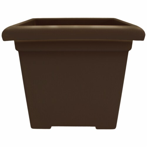 The HC Companies Square Accent Planter - Chocolate Perspective: front