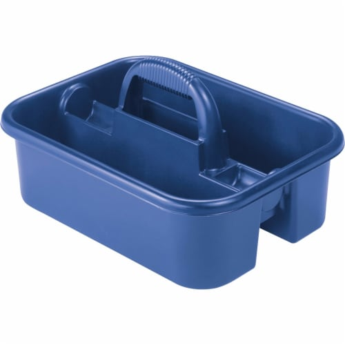Akro-Mils AKM09185BLUE Tote Caddy, 13.75 in. x 18.25 in. x 8.75 in., Blue Perspective: front
