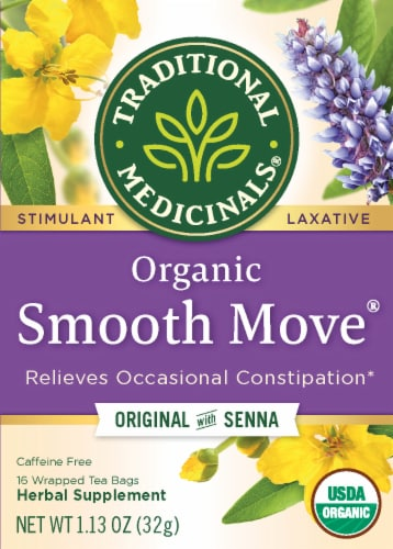 Traditional Medicinals Organic Smooth Move Herbal Tea Bags Perspective: front