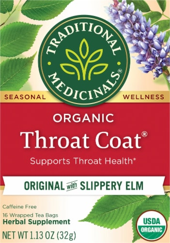 Traditional Medicinals Organic Throat Coat Tea Bags Perspective: front