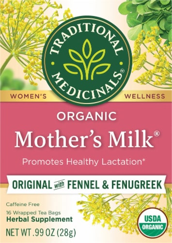 Traditional Medicinals Organic Mother's Milk Tea Bags 16 Count Perspective: front