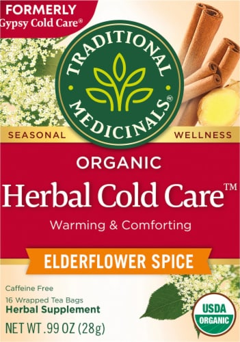 Traditional Medicinals Gypsy Cold Care Elderflower Spice Tea Bags 16 Count Perspective: front