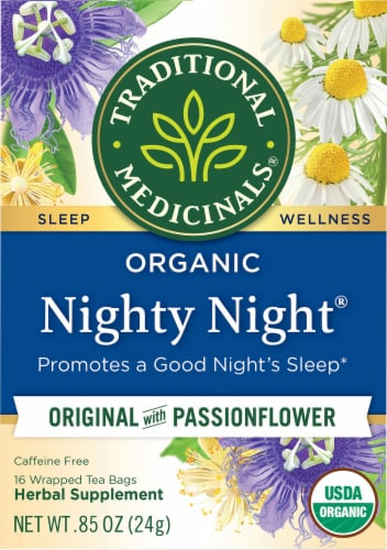 Traditional Medicinals Organic Nighty Night Tea Bags Perspective: front