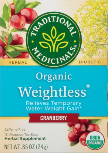 Traditional Medicinals Organic Weightless Cranberry Tea Bags Perspective: front