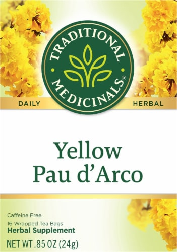 Traditional Medicinals Yellow Pau d' Arco Tea Bags Perspective: front