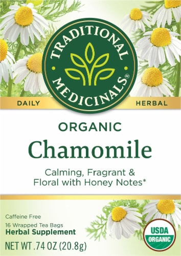 Traditional Medicinals Organic Chamomile Tea Bags Perspective: front