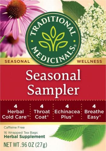 Traditional Medicinals Seasonal Sampler Tea Bags Perspective: front