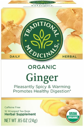 Traditional Medicinals Organic Ginger Tea Bags Perspective: front