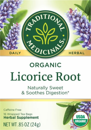 Traditional Medicinals Organic Licorice Root Tea Bags 16 Count Perspective: front