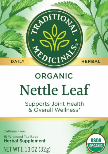 Traditional Medicinal Organic Nettle Leaf Tea Bags Perspective: front
