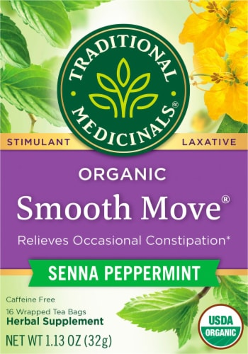 Traditional Medicinals Organic Smooth Move Peppermint Tea Bags Perspective: front