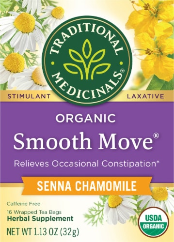 Traditional Medicinals Smooth Move Chamomile Senna Tea Bags Perspective: front