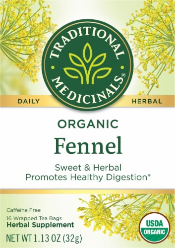 Traditional Medicinals Organic Fennel Herbal Tea Perspective: front