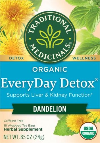 Traditional Medicinals Organic EveryDay Detox Dandelion Herbal Tea Bags Perspective: front