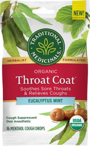 Traditional Medicinals Organic Throat Coat Lozenges Perspective: front