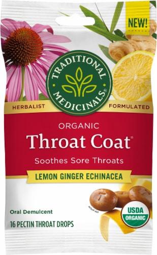 Traditional Medicinals Throat Coat Lozenges Perspective: front
