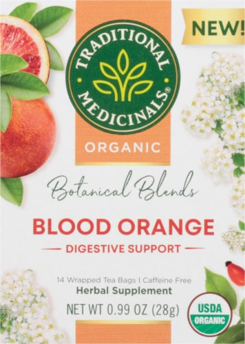 Traditional Medicinals Botanical Blends Blood Orange Digestive Support Herbal Tea Perspective: front