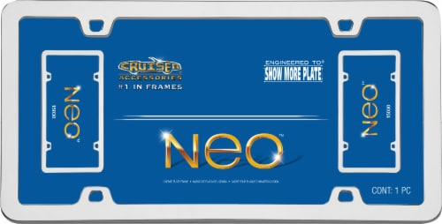 Cruiser Accessories Chrome License Plate Frame - Neo Perspective: front