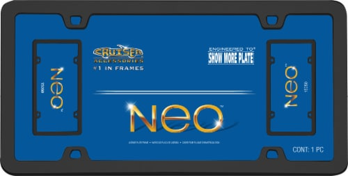 Cruiser Accessories Neo License Plate Frame - Black Perspective: front