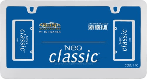 Cruiser Accessories Neo Classic License Plate Frame - Chrome Perspective: front