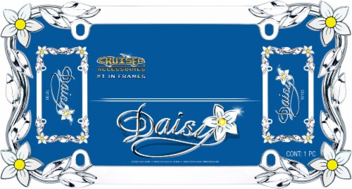 Cruiser Accessories Daisy License Plate Frame - Chrome Perspective: front