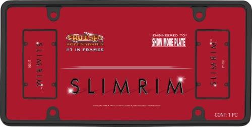 Cruiser Accessories Slim Rim License Plate Frame - Black Perspective: front