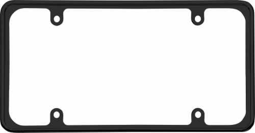 Cruiser Accessories Perimeter License Plate Frame - Black Perspective: front