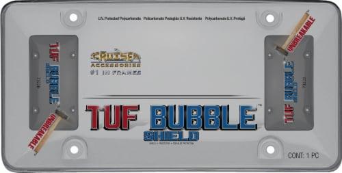 Cruiser Accessories Tuf Bubble License Plate Shield - Smoke Perspective: front