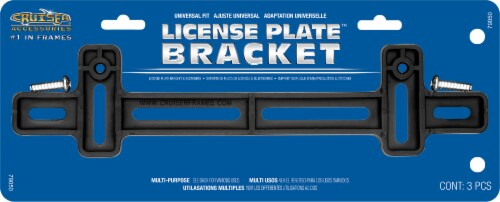 Cruiser Accesories License Plate Bracket - Black Perspective: front