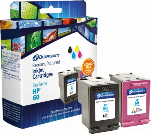 Dataproducts Remanufactured Ink Cartridges for HP 60 - Black/Tri-Color Perspective: front