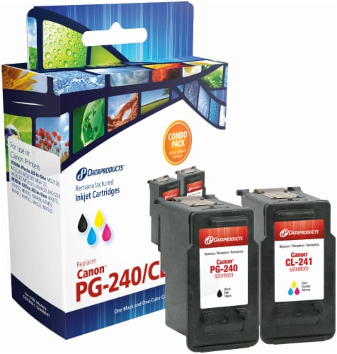 Dataproducts Remanufactured Ink Cartridge for Canon PG-240/CL-241 - Black/Tri-Color Perspective: front