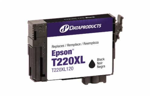 Dataproducts Epson T220XL Black Remanufactured Inkjet Cartridge Perspective: front