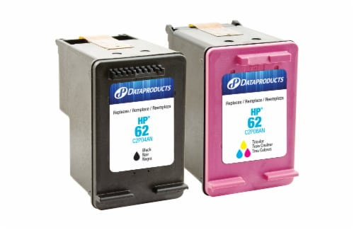 Dataproducts Remanufactured Inkjet Cartridges for HP 62 - Black/Tri-Color Perspective: front