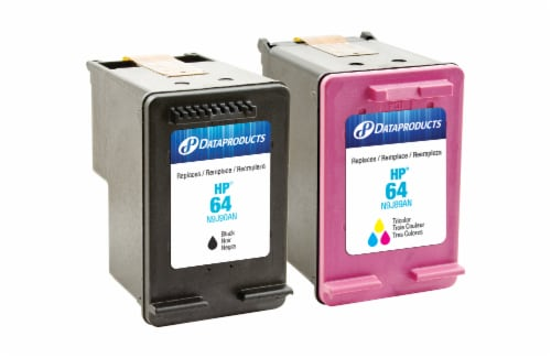 Dataproducts Remanufactured Inkjet Cartridges for HP 64 - Black/Tri-Color Perspective: front
