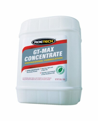 Roetech GT-Max Concentrate Liquid Drain Cleaner 5 gal. - Case Of: 1 Perspective: front