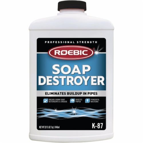 Roebic 32 Oz. Soap Destroyer Drain Opener & Cleaner K87SD-Q-12 Perspective: front
