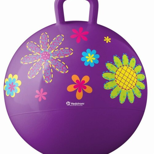 Hedstrom 55-5304-1P 18 in. Flowers Hopper Outdoor Play, Purple Perspective: front